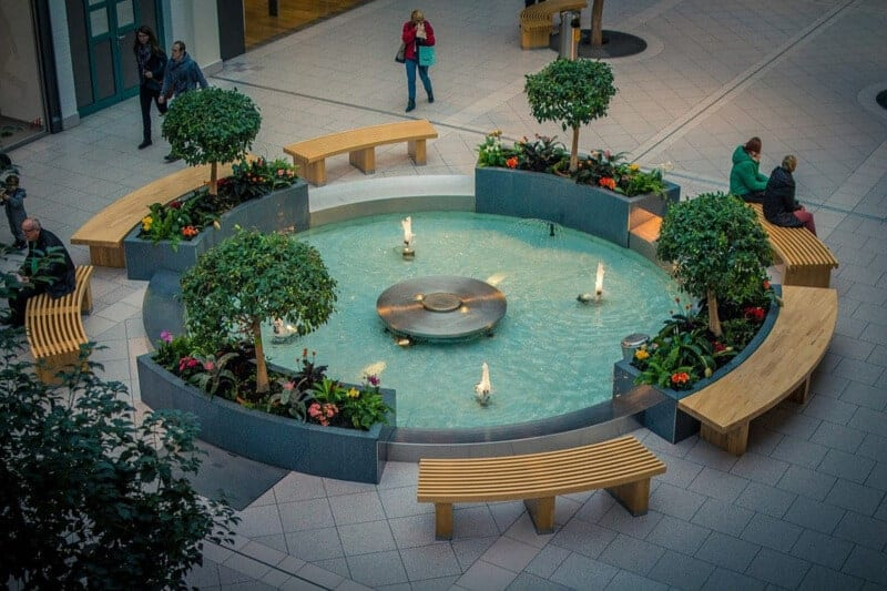 shopping mall waterfall and fountain services