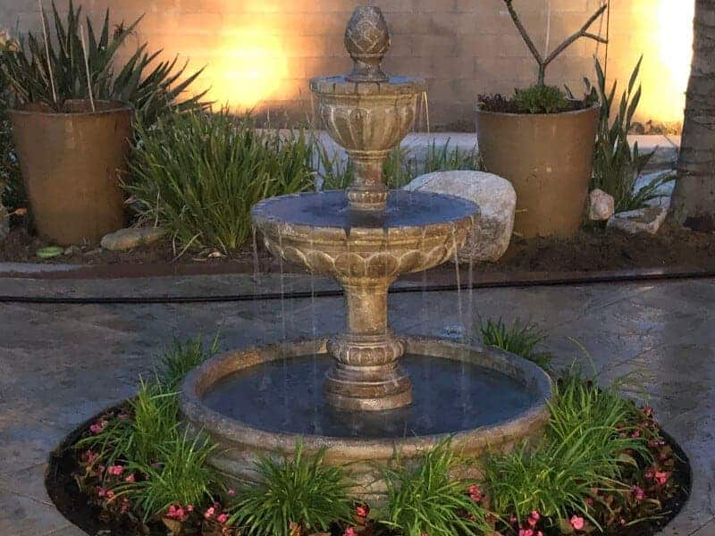 backyard water fountain repair and installation services