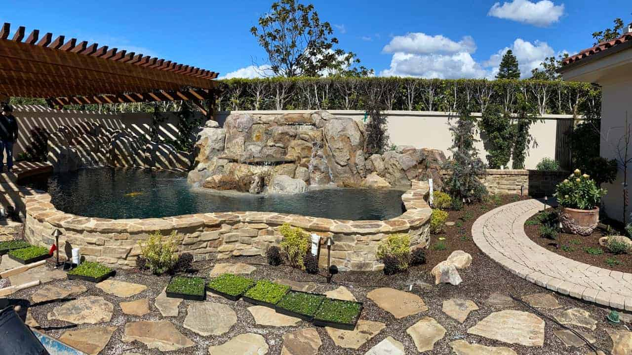 custom koi pond construction laguna beach ca