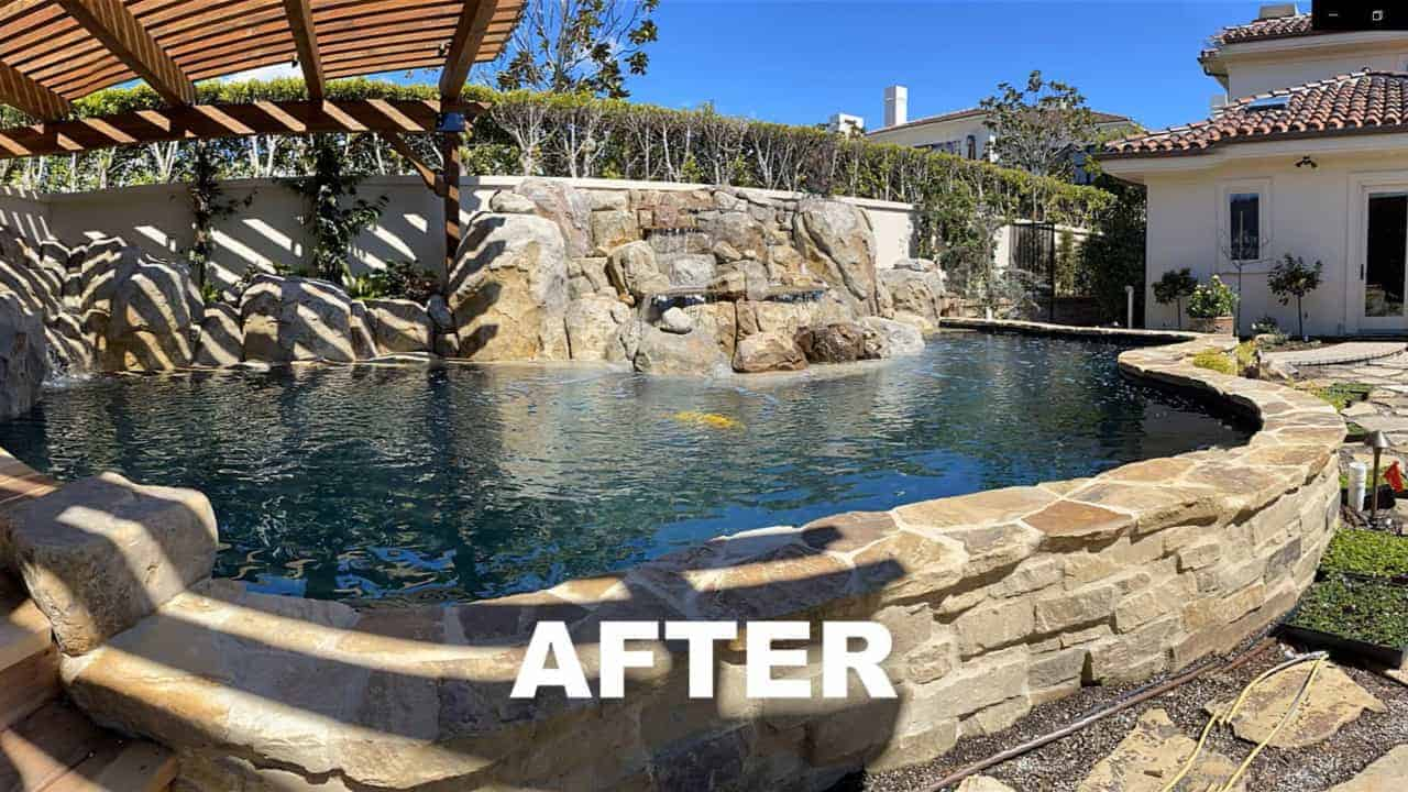 laguna beach pond build